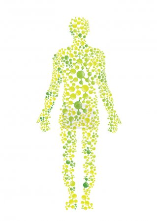 Illustration for Green environmental concept of the human body - Royalty Free Image