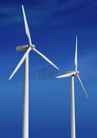 White wind turbines ll