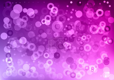 Illustration for Purple abstract background with circles - Royalty Free Image