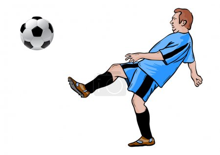Illustration for Football player isolated on the white - Royalty Free Image