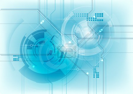 Illustration for Abstract technology background in blue - Royalty Free Image