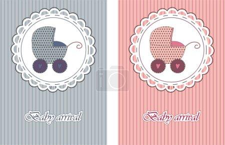 cartes d'arrivée de bébé