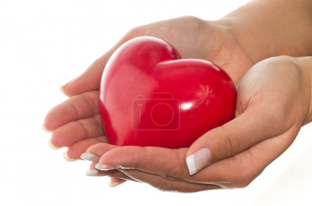 Photo for Heart in female hands - love and health symbol - Royalty Free Image
