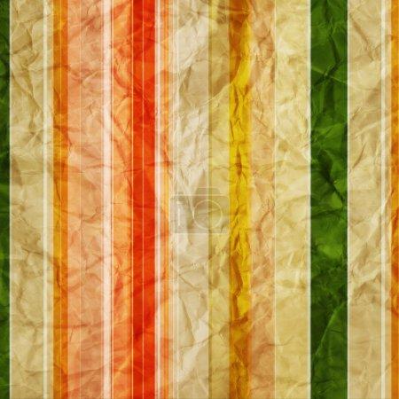Photo pour Backgroun en papier froissé rayé texturé - image libre de droit