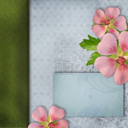 Photo for Cover for album with bouquet of pink flowers - Royalty Free Image