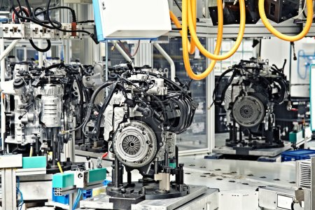 Photo for Manufacturing parts for car engine - Royalty Free Image
