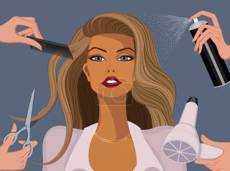 Illustration for Woman in a beauty salon - Royalty Free Image