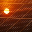 Renewable energy concept with photovoltaic panel a...
