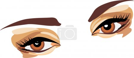 Illustration for Female look. Vector illustration - Royalty Free Image