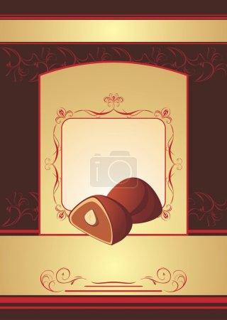 Chocolate truffle. Background for wrapping