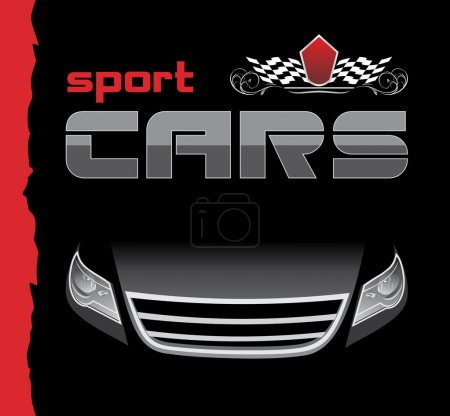 Sport car. Background for design