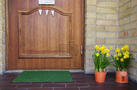 Spring home entry