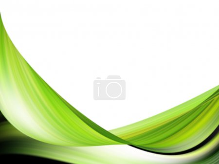 Photo for Green dynamic wave on white background - Royalty Free Image