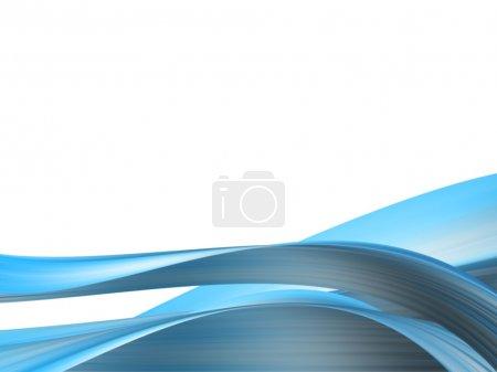 Foto de Fondo dinámico azul con ondas - Imagen libre de derechos