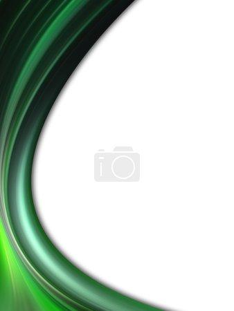 Photo pour Vague dynamique verte. fond abstrait - image libre de droit