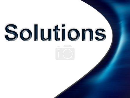 Photo pour Solutions texte - image libre de droit