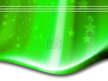 Photo pour Vert composition étoiles lignes - image libre de droit