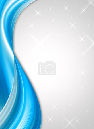 Photo for Blue stars on gray background with stars - Royalty Free Image