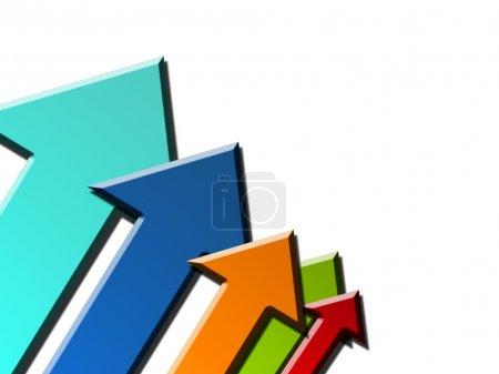 Foto de Flechas de color, éxito fondo dinámico - Imagen libre de derechos