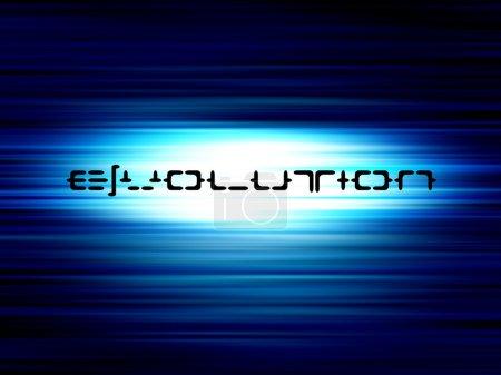 Photo pour Évolution texte sur fond bllue - image libre de droit