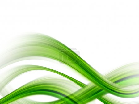 Photo for Green dynamic waves on white background, illustration - Royalty Free Image
