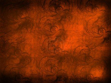Photo pour Fond orange avec des effets lumineux. illustration abstraite - image libre de droit