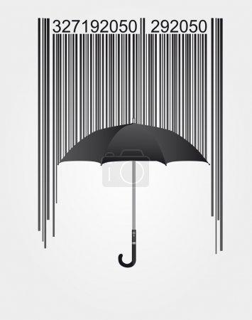 Barcode and umbrella