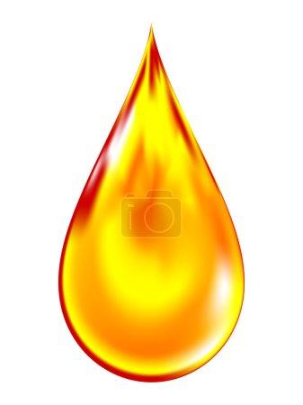 Illustration for Vector illustration of a golden drop of oil. - Royalty Free Image