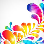Abstract bright background with teardrop-shaped arches