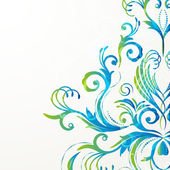 Retro floral background for vintage design