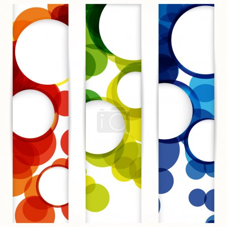 Abstract vertical banner with forms of empty frames for your www