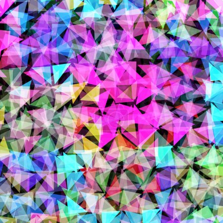 Illustration for Colorful Mosaic Abstract Vector Background - Royalty Free Image