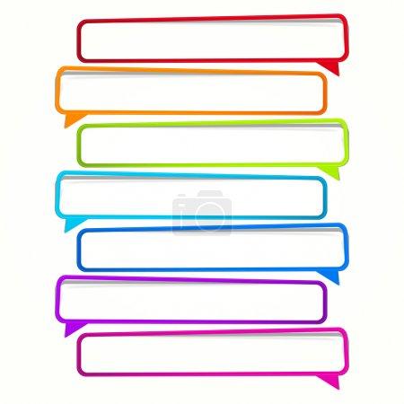 Illustration pour Annexe. autocollant long sous la forme d'un bloc vide pour votre texte. - image libre de droit