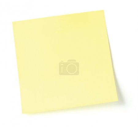Blank Sticky note isolated