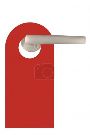 Red Blank Isolated Do Not Disturb Door Tag Isolated