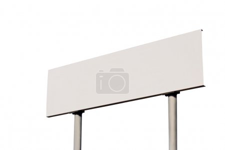 Blank White Road Sign Without Frame, isolated signage signboard