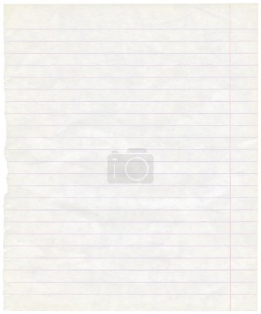 Single sheet of old grungy note paper texture background