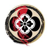 Bloody samurai crest