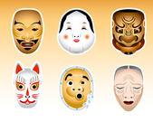 Japan Noh and Kyogen masks | Set 1