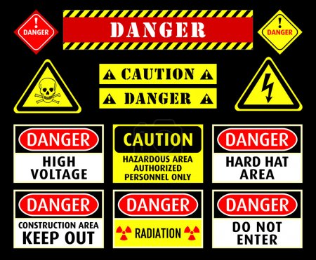 Danger warning symbols