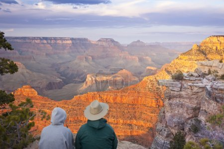 Couple Enjoying Beautiful Grand Canyon Landscape