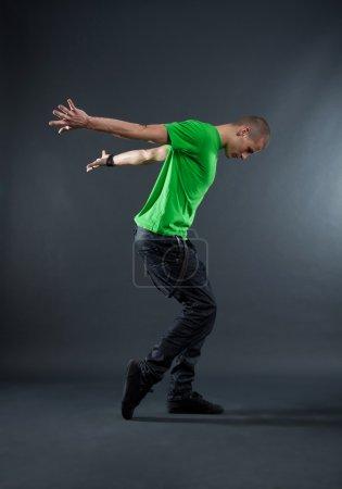 Break dancer showing his skills