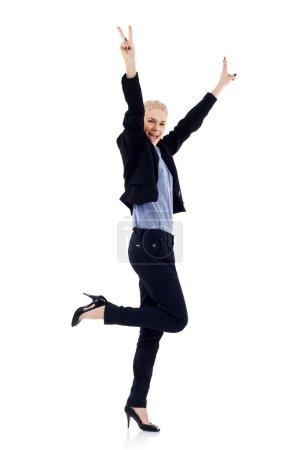 Business woman winning
