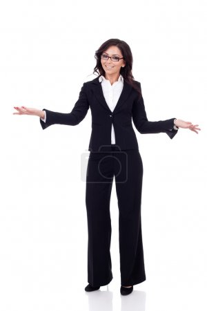 Business woman welcoming
