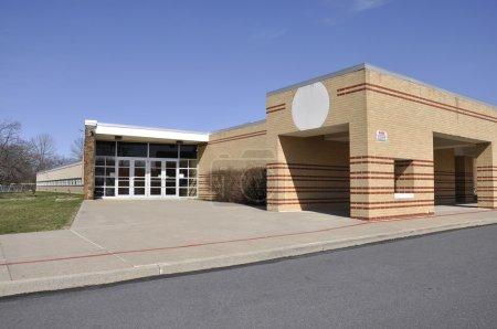 Entrance for modern elementary school