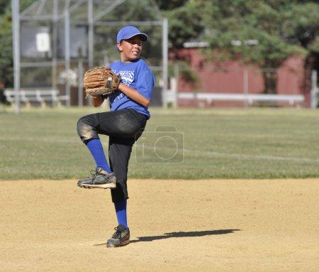 Little league baseball pitcher