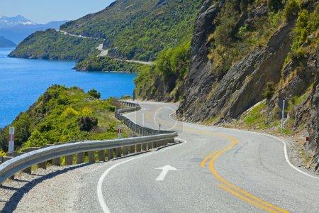 Road along the lake