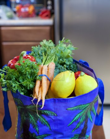 Fresh Produce in a Grocery Bag