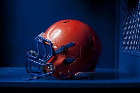 Football Helmet in Locker