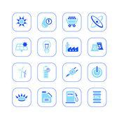 Energy icons - blue series